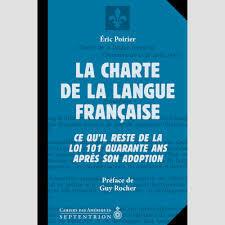 Adoption de la charte de la langue française.