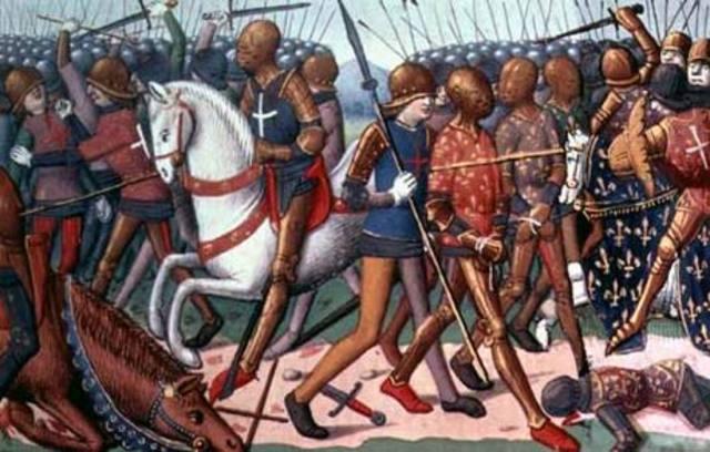 Henry V lands in Harfleur