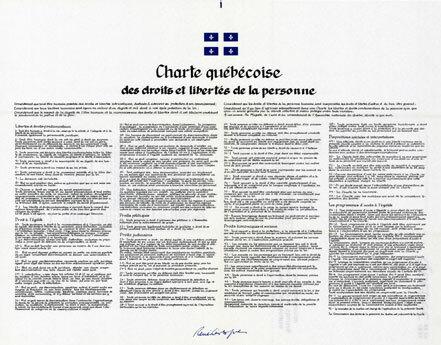 Entrée en vigueur de la Charte des droits et libertés