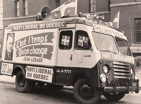 Élection de Jean Lesage à la tête du Québec