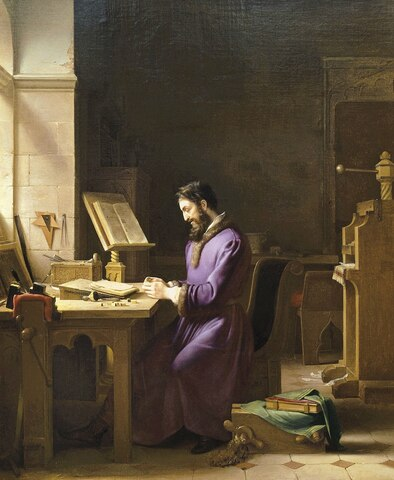 Johannes Gutenberg inventa la imprenta