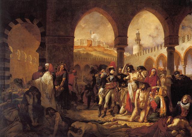 """""""Napoleón visitando a los apestados de Jaffa"""" por ANTOINE-JEAN GROS"""