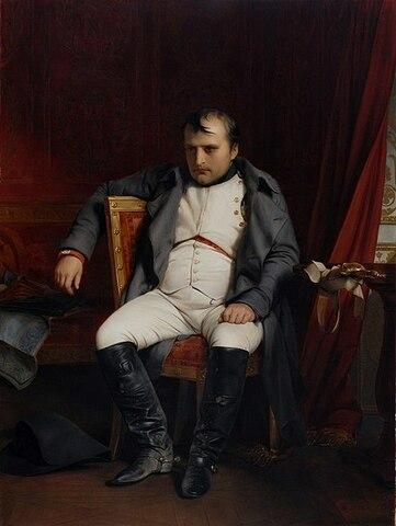 """""""Abdicación de Napoleón en Fontaineblau"""" de PAUL DELAROCHE"""