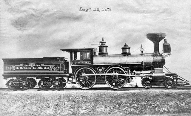 Inauguration du premier chemin de fer au Bas-Canada