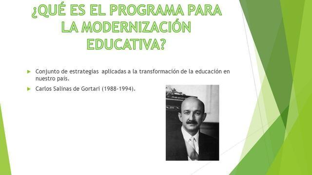 ACUERDO NACIONAL PARA LA MODERNIZACION  DE LA EDUCACION