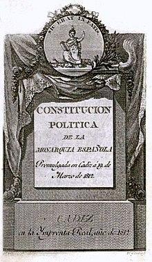 Cortes de Cádiz y Constitución de 1812