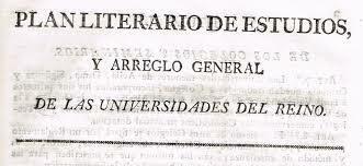 Plan literario de estudios y arreglo general de las Universidades del Reino (Plan Calomarde) (1824)