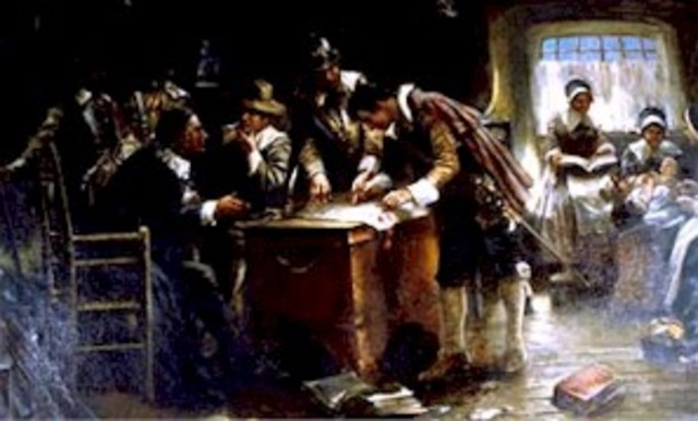 Mayflower arrived in Plymouth to form the first colony