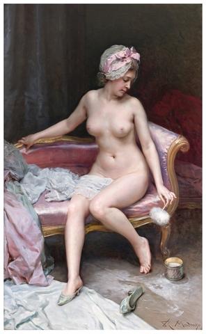 """""""Después del baño (Desnudo de mujer)"""" de Raimundo de Madrazo"""