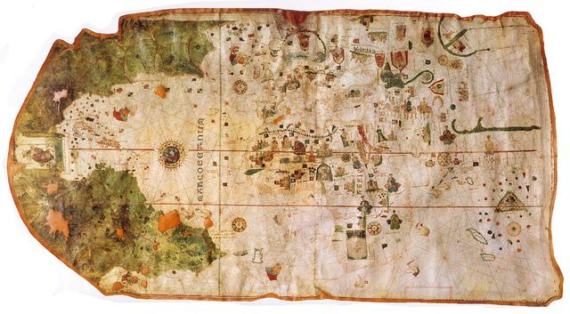 1º Mapa donde aparece: El continente Americano por Juan de la Cosa.