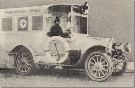1ª Ambulância dos bombeiros