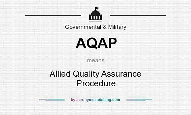 Adopción de la norma AQAP–1