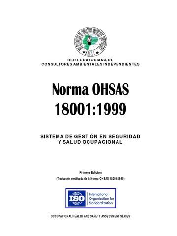 Primera Versión OHSAS 18001:1999