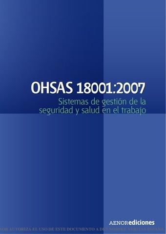Segunda Versión de OHSAS 18001:2007
