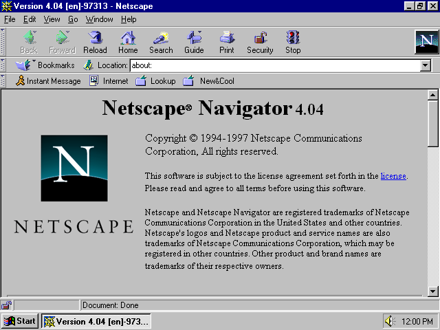 Primer navegador de buscador