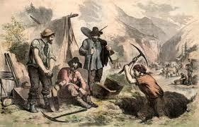 California gold rush begins.