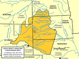 Plains Indians agree to the Fort Laramie Treaty.