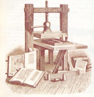 Imprenta de Gutenberg 1490 d C.