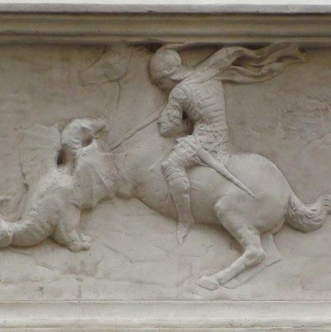 Donatello, San Giorgio libera la principessa