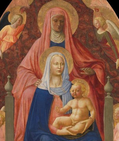 Masaccio e Masolino, Sant'Anna Metterza