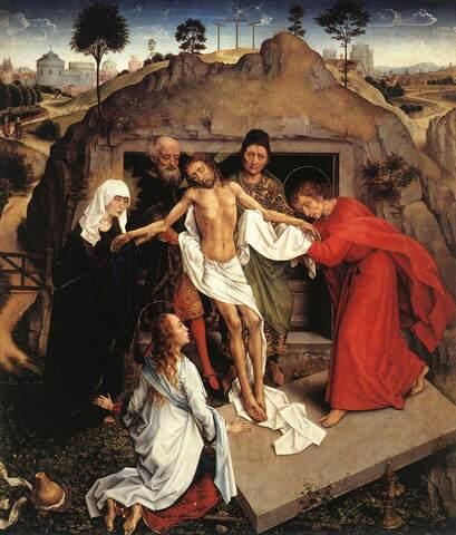 Rogier van der Weyden, Deposizione nel sepolcro