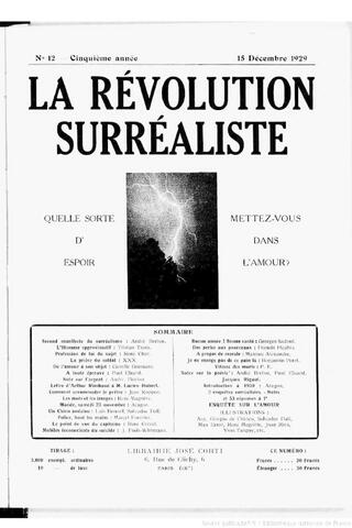 """""""Segundo manifiesto del surrealismo"""" por André Breton."""