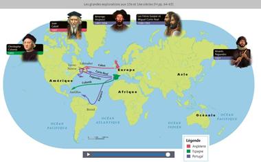 Les voyages d'exploration en Amérique du Nord