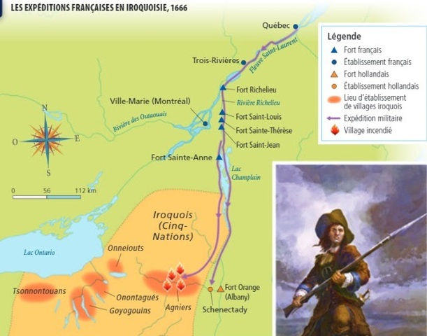 L'arrivée du régiment Carignan-Salières