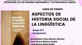 Aspectos históricos de la lingüística timeline