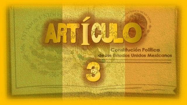 Reforma del articulo 3° Constitucional