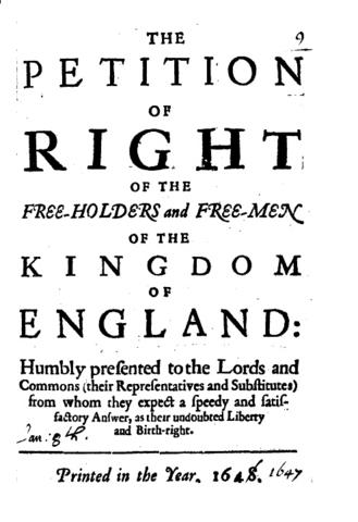 La Petición de Derechos