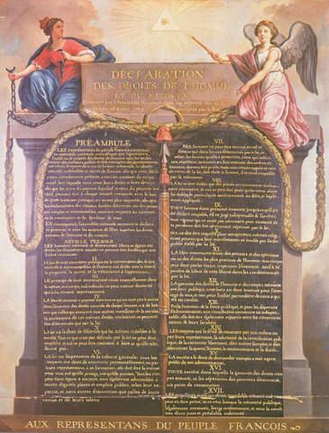 Francia: Declaración de los Derechos del Hombre y del Ciudadano