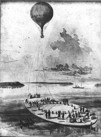 Launch Of Balloon From Ship