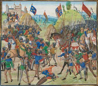Juuli- Inglise väed randusid Normandias, Crécy lahing