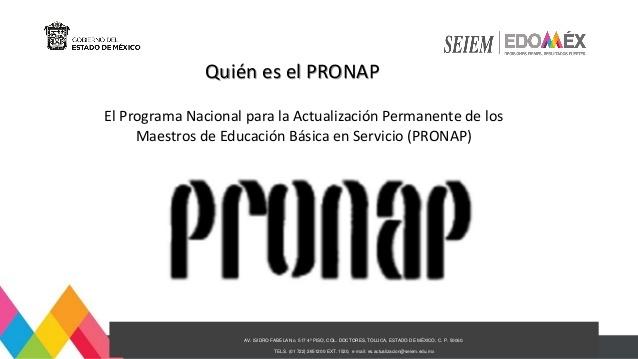 Implementación del programa PRONAP