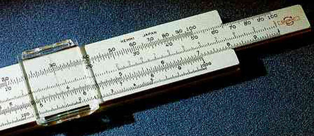 William Oughtred develops slide rules