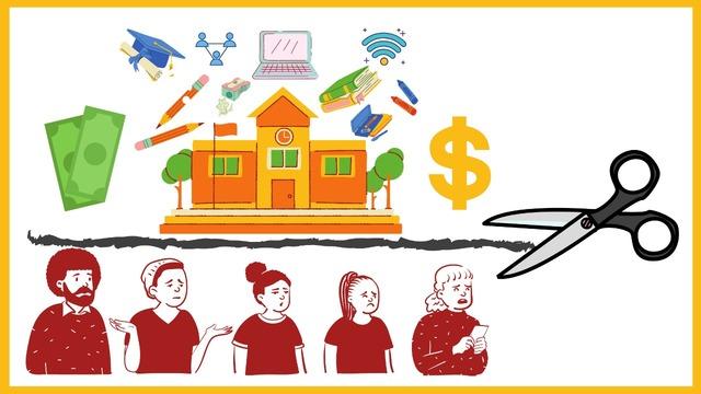 Amplio recorte presupuestal al sector educativo.
