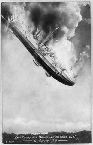 First German Zeppelin To Crash