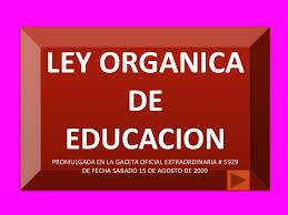 Ley Orgánica de la Educación Pública