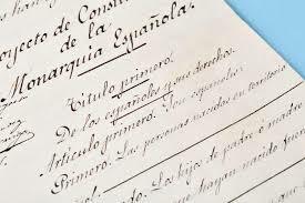 Promulgación de la Constitución de 1876.