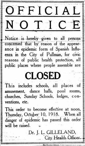 Public places were closed