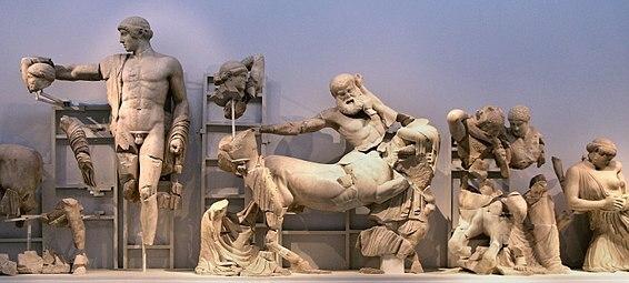 Frontone occidentale del Tempio di Zeus a Olimpia