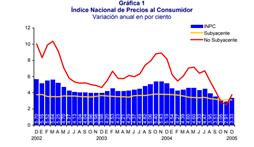 Evolución de la inflación 2005