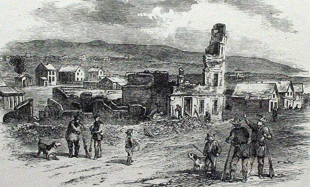 A pro-slavery mob sacks Lawrence, Kansas; John Brown stages the Pottawatomie Massacre in retaliation.