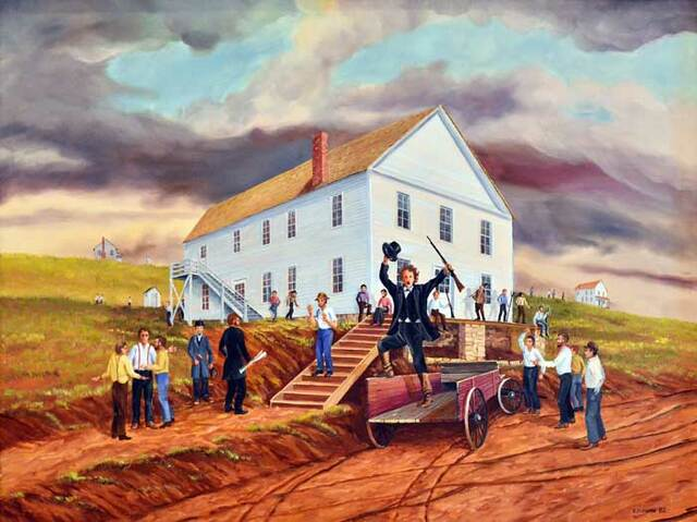 Lecompton Constitution declares that slavery will be allowed in Kansas.