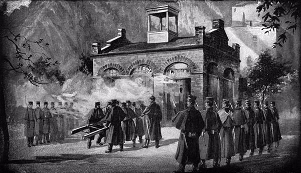 John Brown and his followers stage raid at Harpers Ferry, Virginia, in an attempt to incite a massive slave insurrection.