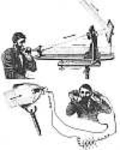 Alexander Graham Bell invents the telephone called the Photophone