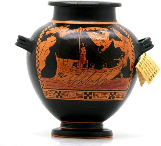 Stamnos con Athena, Apollo e Troilo