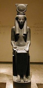 statuetta della dea hathor
