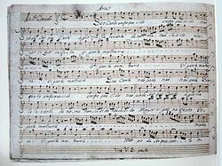 Registro escrito da primeira Cantata profana produzida no Brasil